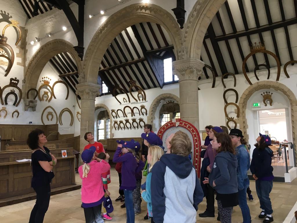 Children exploring Oakham Castle.